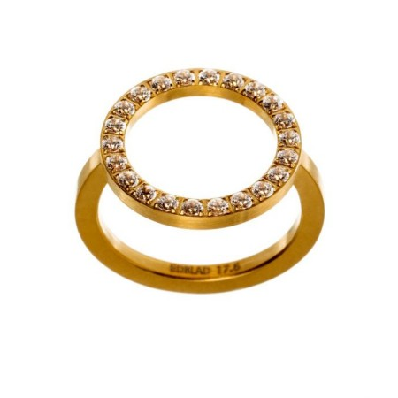 GLOW FRONT RING MATT GOLD L